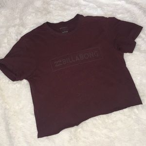 Burgundy billabong crop top
